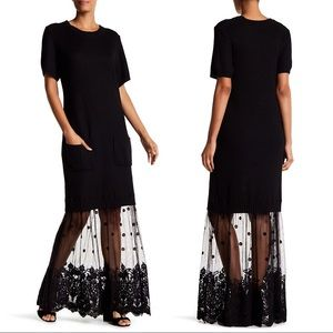 Tov Holy sweater lace dress